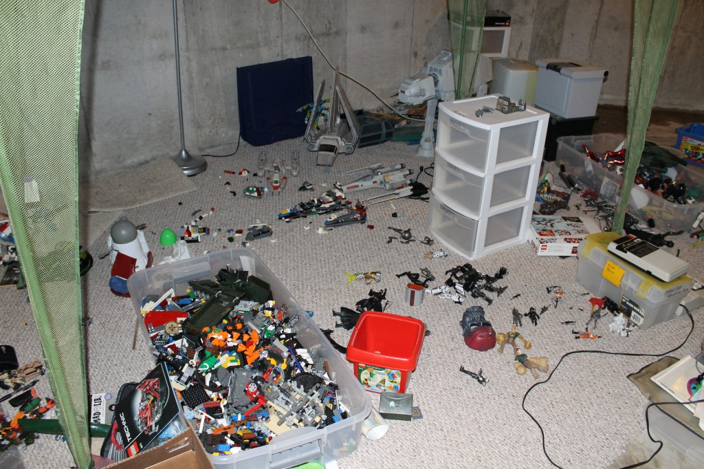 Alex's abandoned basement toy room.