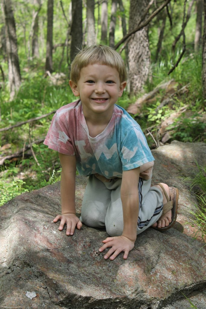 Julian on a rock